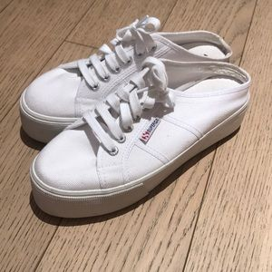 Superga platform slip on
